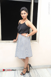 Telugu Actress Kruthika Jayakumar Stills in Short Dress at Intlo Deyyam Nakem Bhayam Success Meet  0256.JPG