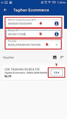 Form Input Virtual Account BCA