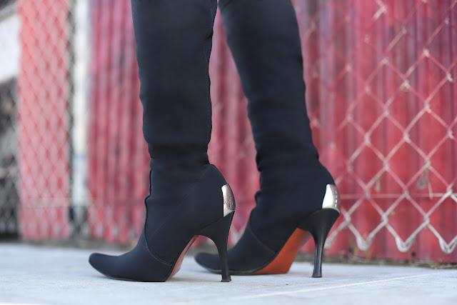 Donald J.  Pliner black stiletto boots