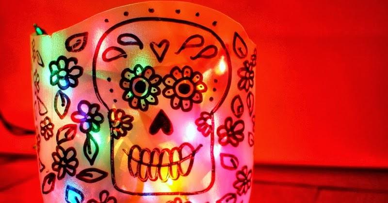 DIY Sugar Skull (Day of the Dead) Milk Jug Luminaries ...