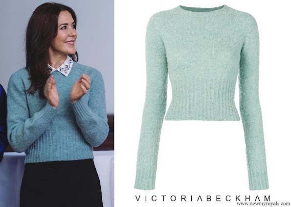 Crown Princess Mary wore VICTORIA BECKHAM round neck jumper