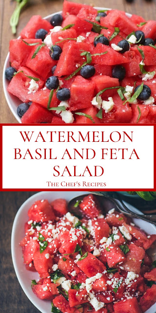 WATERMELON BASIL AND FETA SALAD