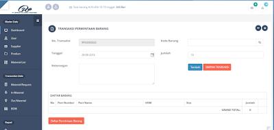 Update Source Code Penerimaan dan Pengeluaran Barang Lengkap dengan BOM Berbasis Web