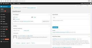 Dashbord WordPress Terbaru