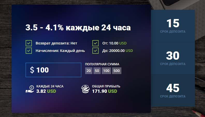 Инвестиционные планы Sincome Bank 3