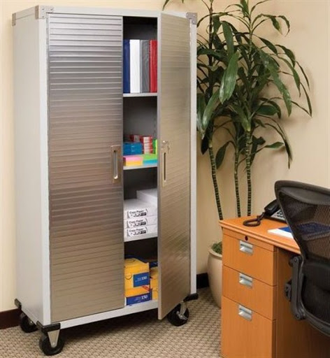 metal office storage cabinets with doors and wheels