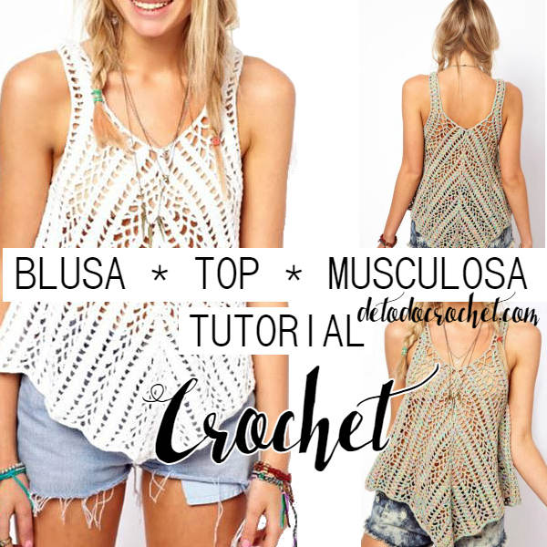 musculosa para tejer con crochet con video tutorial