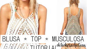 Blusa sin Mangas Super Actual / Tutorial Crochet