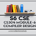 CS304 Compiler Design Module-6 Note | S6 CSE