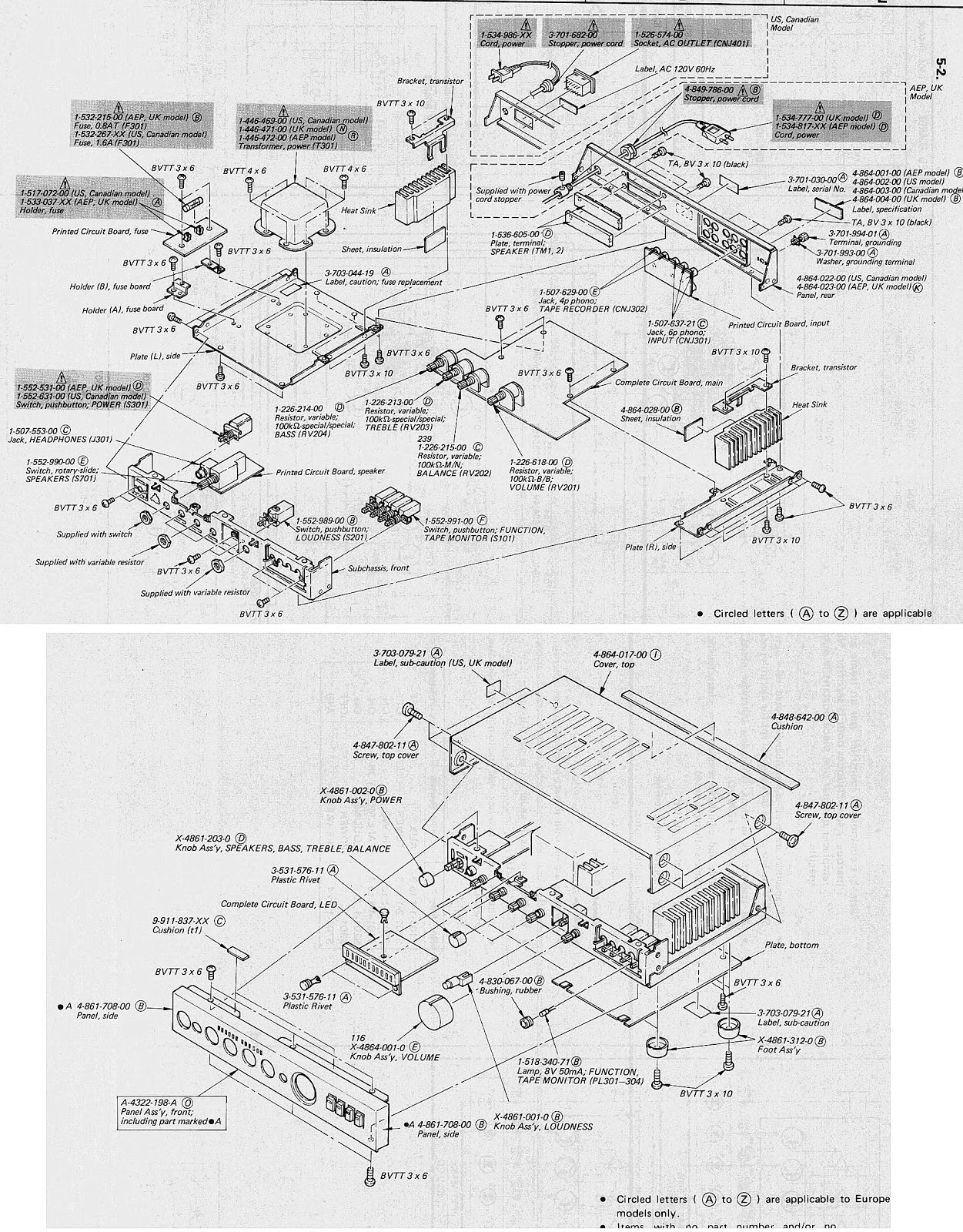 wiring diagram pwb and exploded view [ 1251 x 1600 Pixel ]