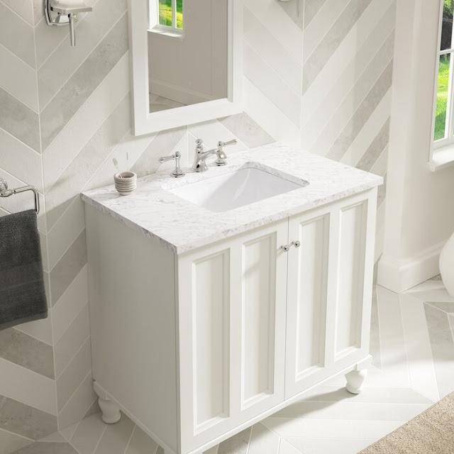 K-20000-0 Bryant Ceramic Rectangular Undermount Bathroom Sink with Overflow