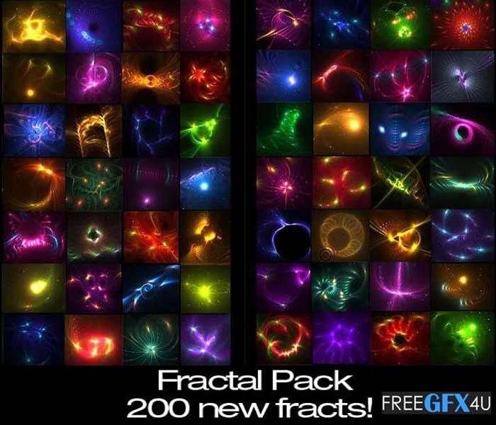 200 Transparent Fractals PNG Pack