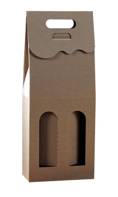Pudełko kartonowe eko na 2 butelki