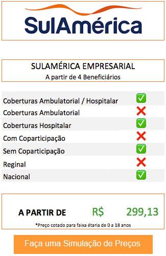 Tabela de Preços Sulamerica df