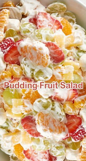 Pudding Fruit Salad #recipes #dessertrecipes #easyrecipes #easydessertrecipes #food #foodporn #healthy #yummy #instafood #foodie #delicious #dinner #breakfast #dessert #lunch #vegan #cake #eatclean #homemade #diet #healthyfood #cleaneating #foodstagram