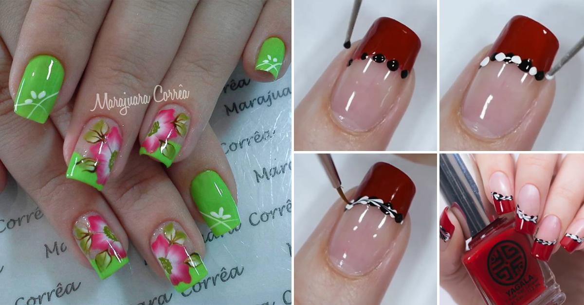 truque para decoração de unhas