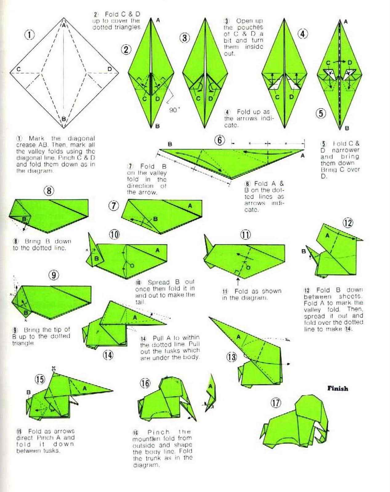 T Rex Origami Tutorial