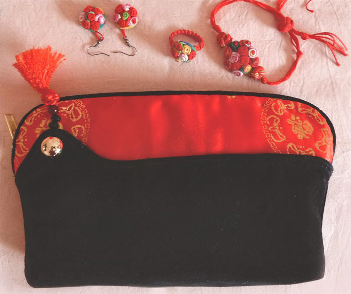 Handbag in China Style. DIY tutorial with patterns.