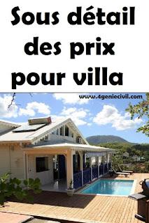 exemple étude de prix pour villa