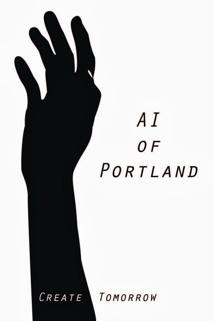 sabrina rangel modernist poster for the art institute of portland