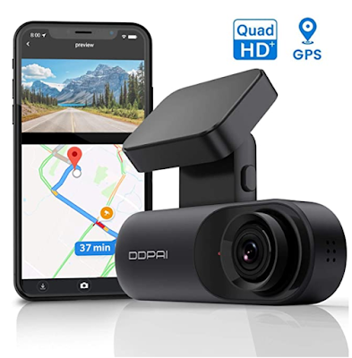 DDPAI Mola N3 Car Dash Camera with GPS Bracket & 140° Wide Angle, 5MP CMOS Sensor, F1.8 Aperture, WiFi