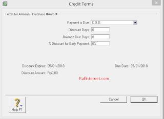 Cara mencatat transaksi pembelian jasa pada MYOB