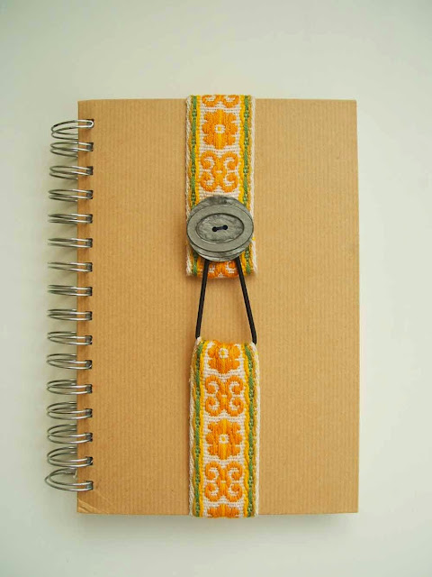 Simple tutorial for a handmade vintage trim bookmark or journal diary strap
