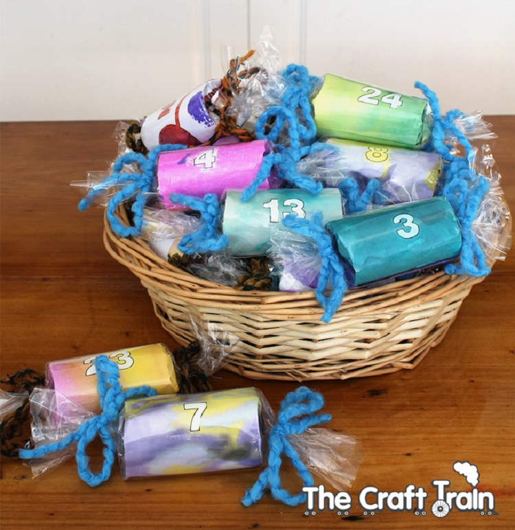 craft train arty advent calendar