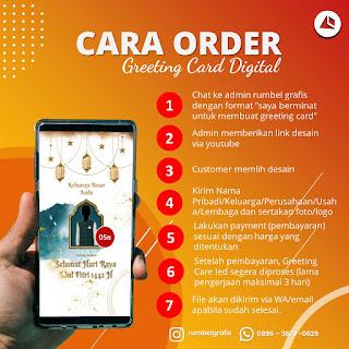 Cara Order Kartu Ucapan Digital Idul Fitri di Rumbel Grafis