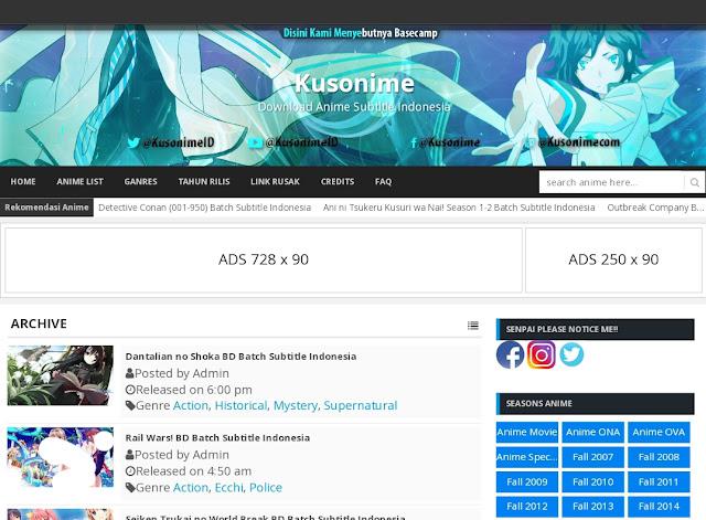 Situs - Situs Anime Batch Download BD atau Download Batch Sub Indo