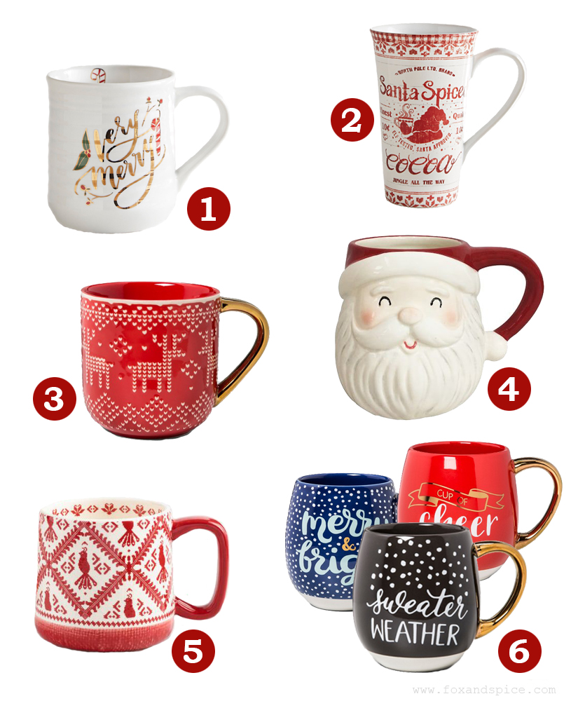 1 very merry mug pier 1 imports 2 santa spiced cocoa tall latte mug pier 1 imports 3 stoneware reindeer sweater mug target