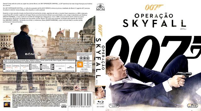 Capa Blu-ray Operação Skyfall