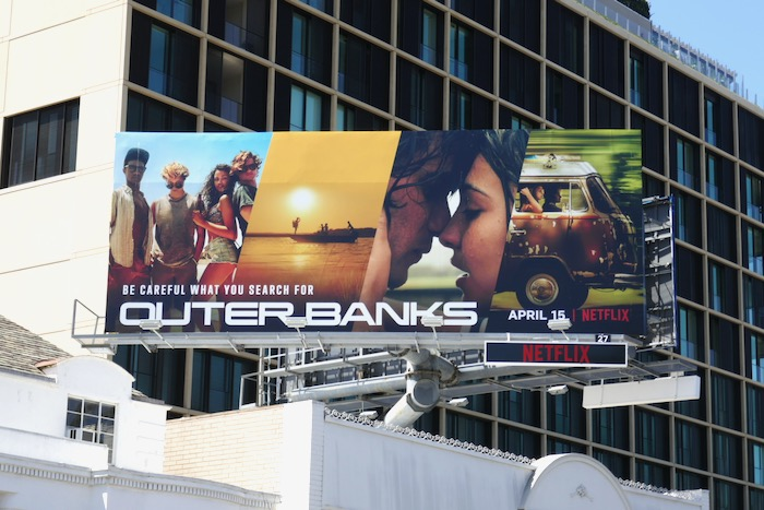 Outer Banks series launch billboard