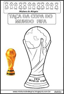 Desenho taça da copa mundial