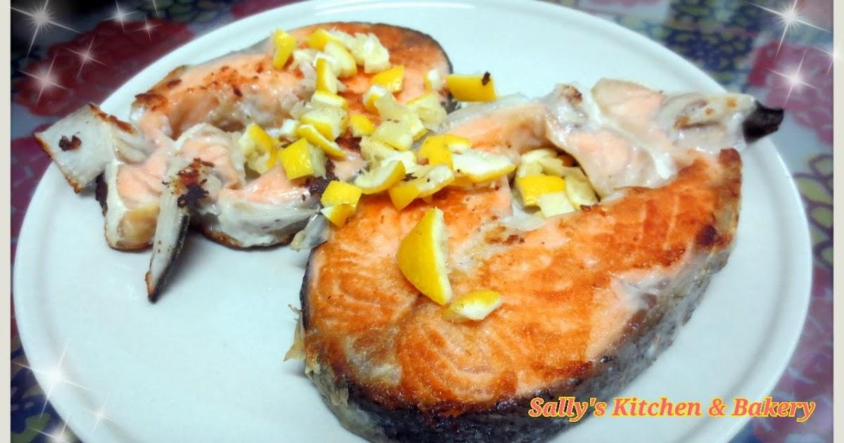Sally's Kitchen & Bakery: [30分鐘食譜] 檸汁香煎三文魚扒(附食譜)