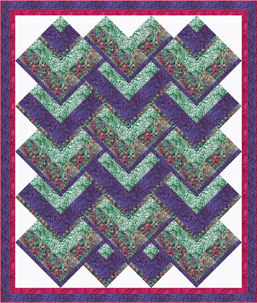 Chevron Falls Quilt designed by Banyan Batiks Studio