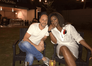 Genevieve Nnaji Sighted With A White Guy On Her Recently Shared Photo, Nigerians Are Already Calling Him In-law