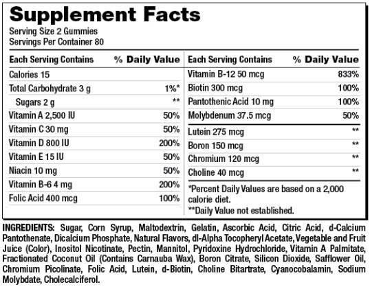 Kẹo Dẻo Bổ Sung Vitamin Cho Người Lớn – Kirkland Signature Adult Multivitamin 160 Viên