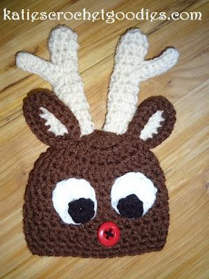 crochet Rudolph hat