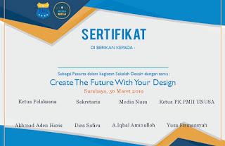 contoh sertifikat untuk peserta