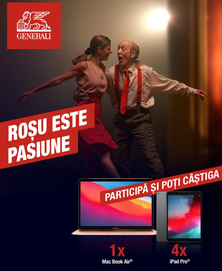 Concurs Genereali Asigurari Romania - Spune care este pasiunea ta si poti castiga un iPad Pro® saptamanal sau marele premiu, un MacBook Air® - concursuri - online - castiga.net - 2021