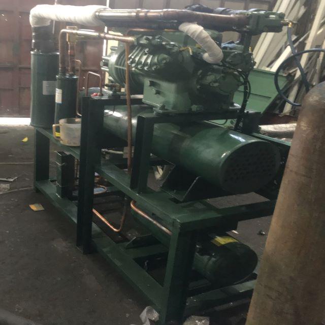 Cụm máy nén bình ngưng giải nhiệt nước bitzer 30HP 2 cấp