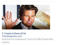 Tom Cruise dead; Facebook