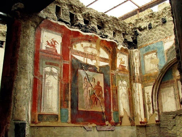 roman wall painting first style