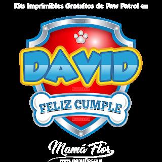 Logo de Paw Patrol: DAVID