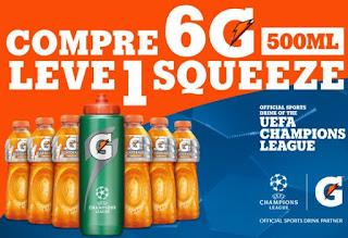 Promoção Gatorade 2017 Champions League Ganhe Squeeze