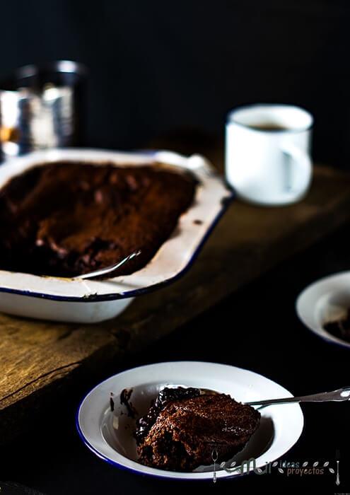 como preparar pudding de brownie