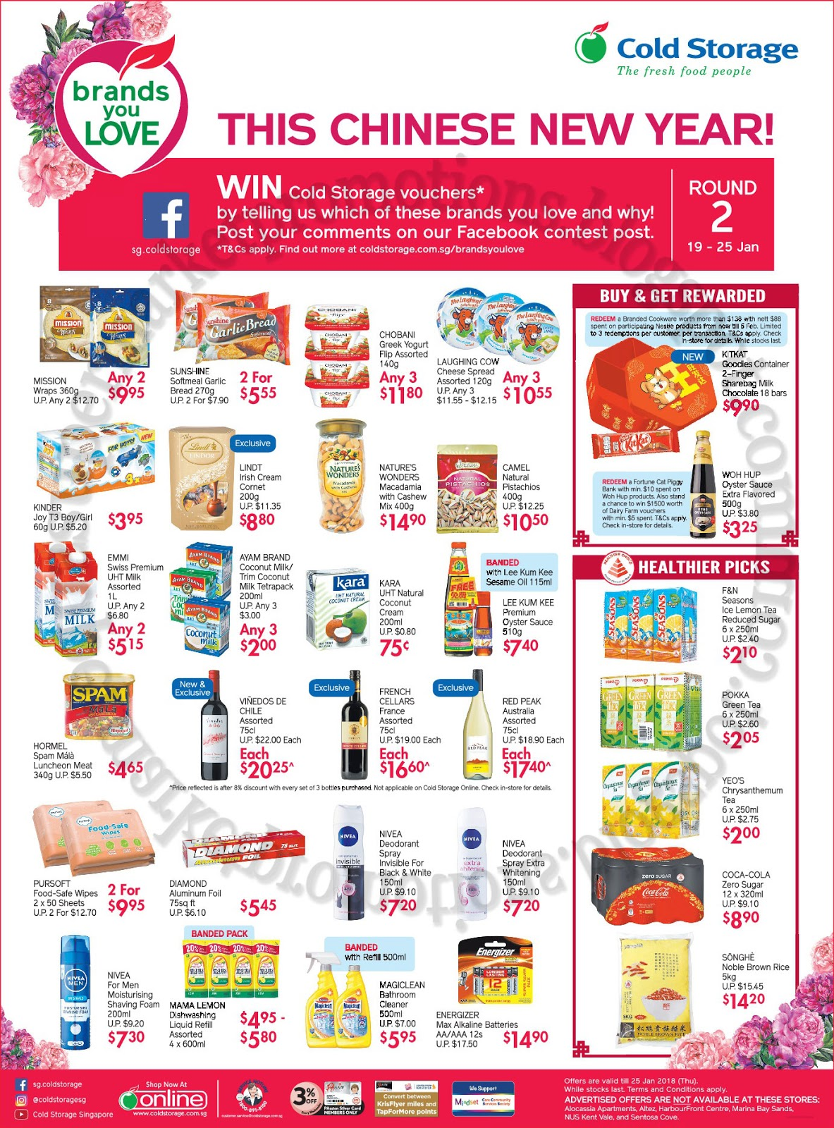 Redeem a fortune cat piggy bank with min $10 spent on Woh Hup products. Also stand a chance to win $1500 worth of Dairy Farm vouchers wint min $5 spent Tu0026C ...  sc 1 st  Supermarket Promotions & Cold Storage Chinese New Year Promotion 19 - 25 January 2018 ...