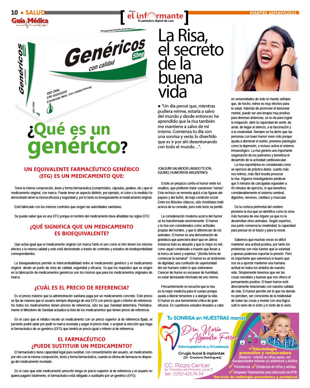 GUÍA MÉDICA EI INFORMANTE  - EDICIÓN Nº 2  - 18/05/2021