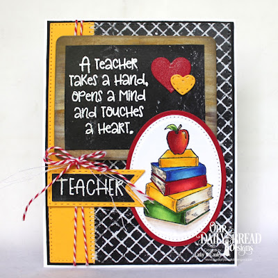 Class Act, Chalkboard Collection, ODBD Custom Dies: Clipboard, Pierced Rectangles, Pierced Ovals, Ovals, Pennant Flags, Double Stitched Pennant Flags, Layering Hearts, Mini Stitched Hearts
